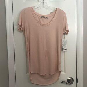 NWT Athleta Revive Tee Pink Ribbed T-Shirt